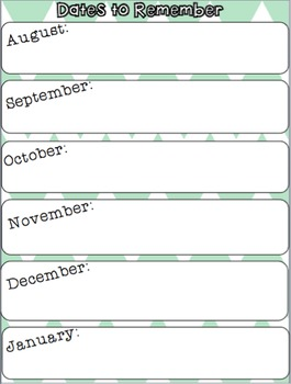 Important Dates Printable FREEBIE