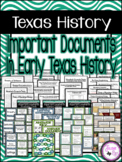 Important Documents in Early Texas History: 4th Grade SS TEKS 4.15A