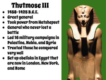 Important Egyptian Pharaohs Interactive Notebook