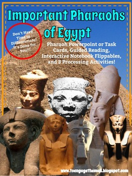 Important Egyptian Pharaohs Interactive Notebook