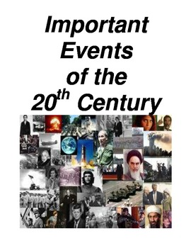Important Events of the 20th Century