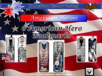 Important Famous American Heroes Bookmarks