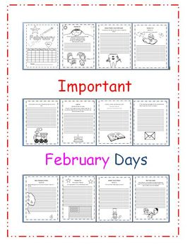 Important February Days writing book with  PowerPoint