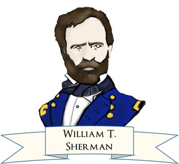 Social Studies Clip Art - American Civil War - BW/Color