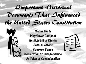 Important Historical Document That Influenced the United S