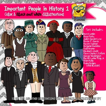 Important Historical People 1 Commercial Use Clipart