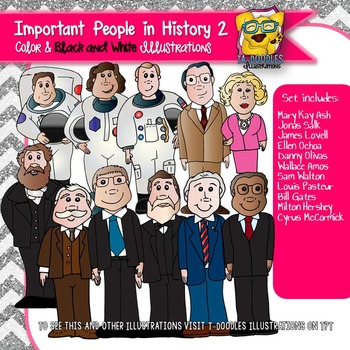 Important Historical People 2 Commercial Use Clipart