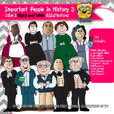 Important Historical People 3 Commercial Use Clipart