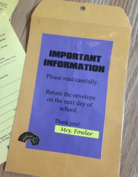 Important Information Envelope