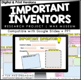 Important Inventor Research Project   Wax Museum   for Distance Learning
