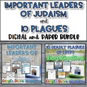 Important Leaders and 10 Plagues Bundle {Digital AND Paper}}