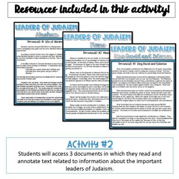 Important Leaders of Judaism Activity {Digital}