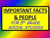 Important People & Facts in Social Studies CRCT COMMON COR