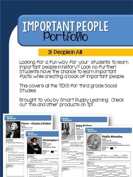 Important People Student Notebook