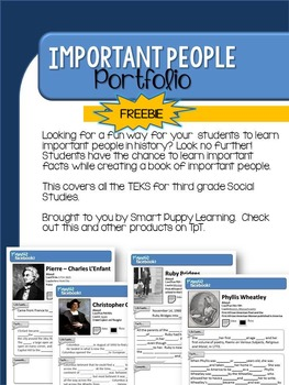 Important People Student Notebook FREEBIE