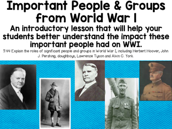 Important People and Groups from World War I (5.44)