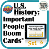 Important People from U.S. History Digital Boom Cards™ Rev