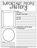 Important People in History Biography Card