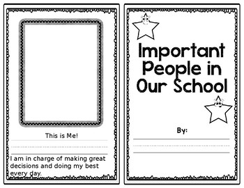 Important People in Our School Mini Book EDITABLE!