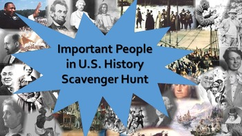 Important People in U.S. History Scavenger Hunt