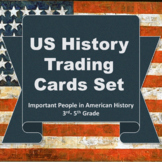 Important People in US History 3rd to 5th Grade Trading Cards