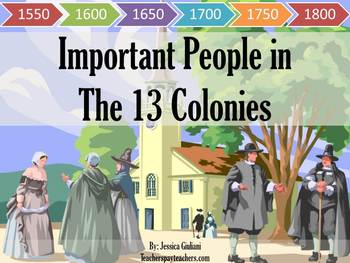 Important People in the 13 Colonies