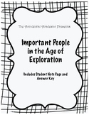 Important People in the Age of Exploration Chart