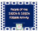 Important People of the 1920s & 1930s - Foldable Activity