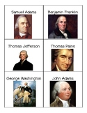 Important People of the American Revolution- Card Sort