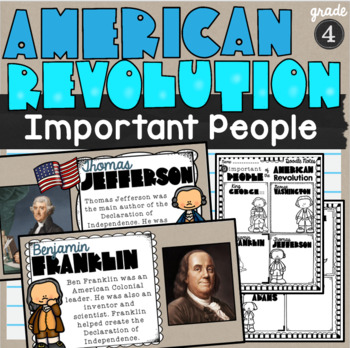 Important People of the American Revolution Lesson and Doodle Notes SS4H1b