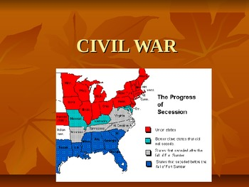 Important People of the Civil War Power Point