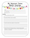 Important Person History Interview