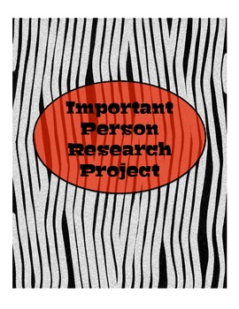 Important Person Research Project