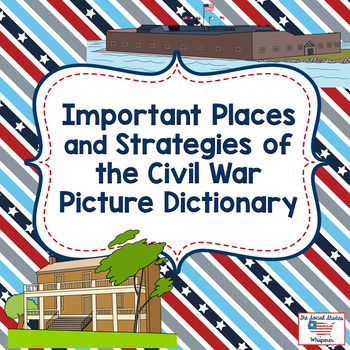 Important Places and Battle Strategies of the Civil War Picture Dictionary