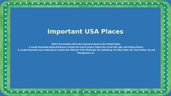 Important Places in the U.S.A.- Social Studies Unit