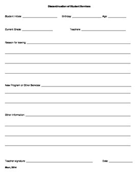 Important Student Form Packet