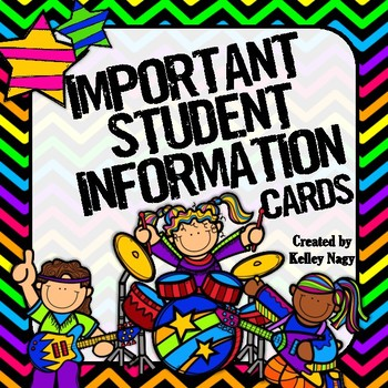 Important Student Information Cards ROCK STAR