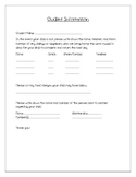 Important Student Information Form