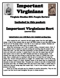 Important Virginians Sort