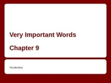 Important Vocabulary Words - ESL Powerpoint