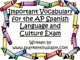 Important Vocabulary for the AP Spanish Language and Culture Exam Packet