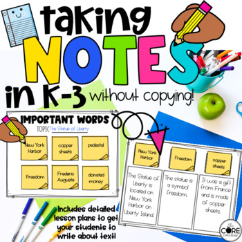 Taking Notes Without Copying: A K-3 Strategy