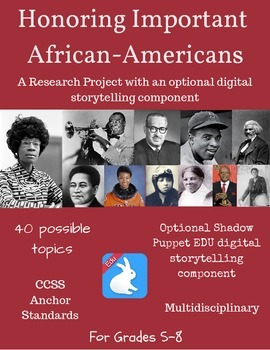 Research Important African-Americans through History Project