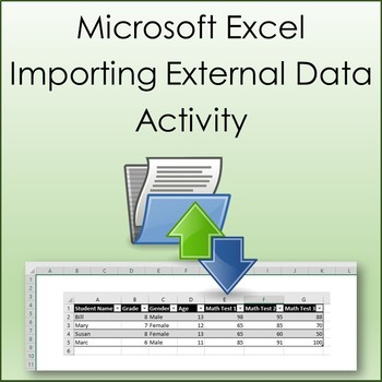 Importing External Data Activity for Microsoft Excel