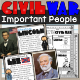 Importnat People of the Civil War SS4H5d Lesson and Doodle Notes