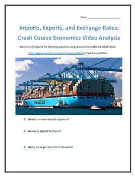 Imports, Exports, and Exchange Rates: Crash Course Economics- Video Analysis