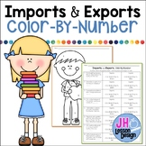 Imports and Exports Color-By-Number