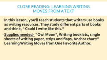 Imporving Narrative Writing- Based on Lucy Calkins Narrative BEND 2 ONLY