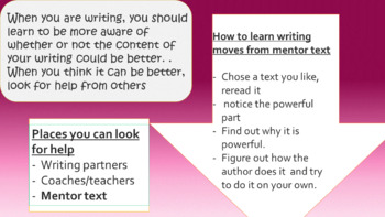 Imporving Narrative Writing- Based on Lucy Calkins Narrative BEND 3 ONLY