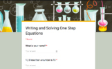 Impossible to Fail Quiz: Writing and Solving One-Step Equations
